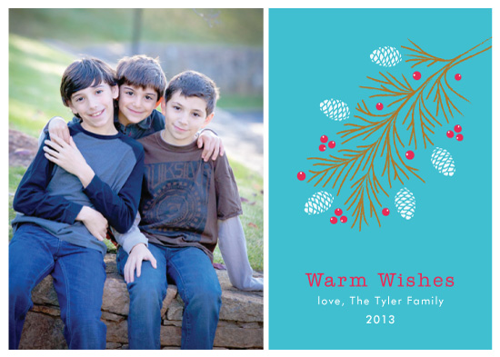 holiday photo cards - Festive Pinecones & Berries by Monica Schafer