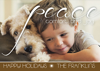 holiday photo cards - Peaceful Friends by Rachel Olson