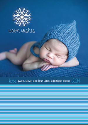 holiday photo cards - Frosty Baby by Rachel Olson