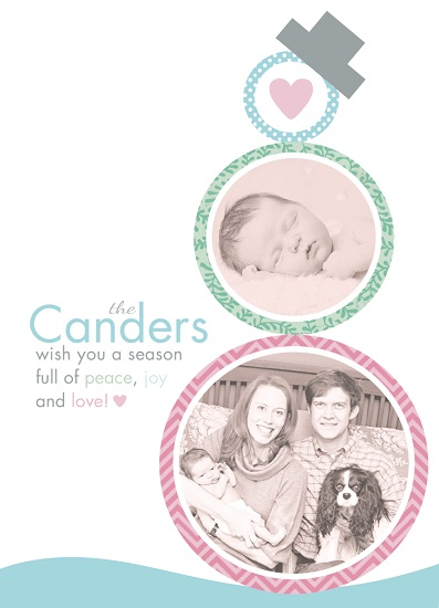 holiday photo cards - Sweet Snow Family by April