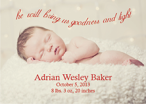 holiday photo cards - Goodness & Light Newborn by Stephanie Piontkowski