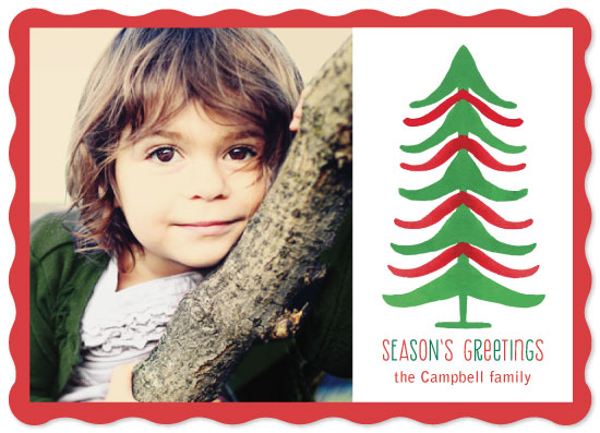 holiday photo cards - Striped Tree by Margaret McCartney