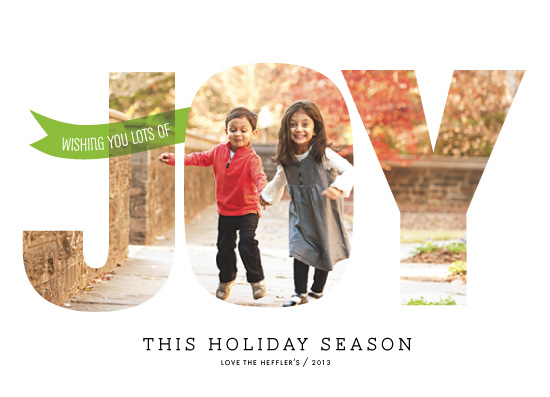 holiday photo cards - Spreading Joy by chica design