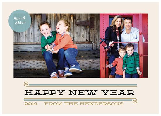 new year's cards - Calmly Modern by Amanda Claybrook