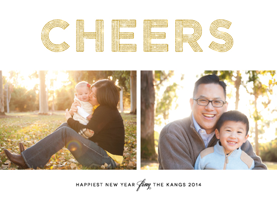 new year's cards - Glittering Cheers by Lehan Veenker