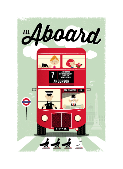 art prints - All Aboard by The Fine Letter Co.