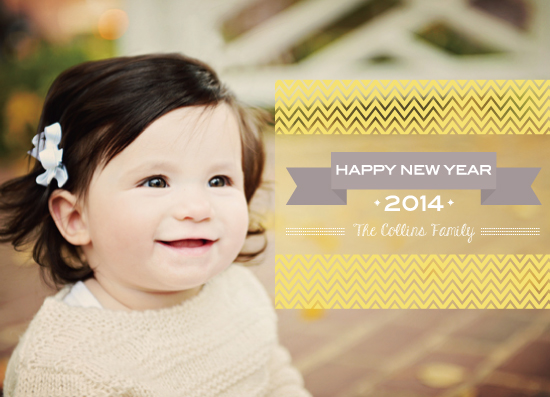 new year's cards - yellow pattern by PAPERlicious