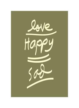 love,happy,sad