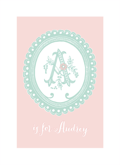 art prints - Vintage Initials by Patina Creative