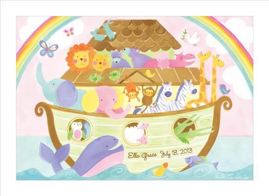 art prints - Noah's Ark Announcement by Kristen Cavallo