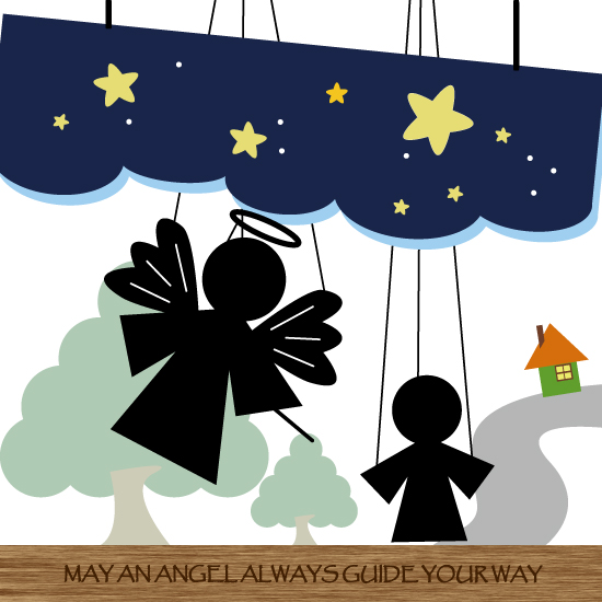 art prints - May An Angel Always Guide Your Way by Chi