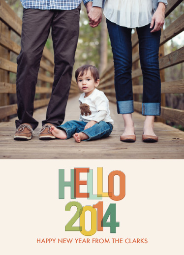 new year's cards - hello 2014 retro by k e n s i e k a t e