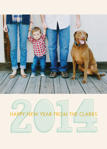 new year's cards - bold 2014 by k e n s i e k a t e