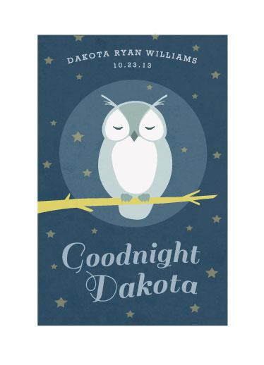 art prints - Goodnight Owl by Katie Wahn