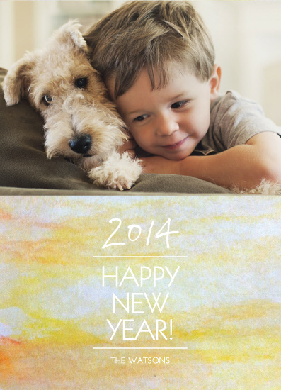 new year's cards - yellow painting by PAPERlicious