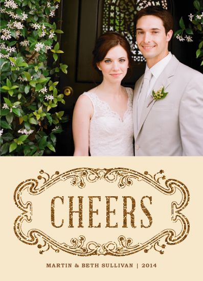 new year's cards - Elegant Cheers by Paper Dahlia