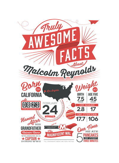 art prints - Truly Awesome Facts by GeekInk Design