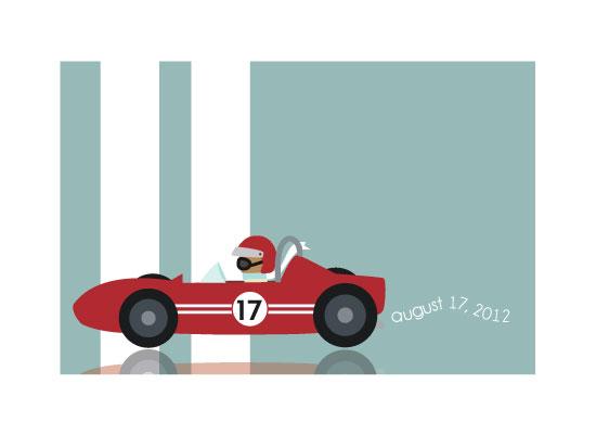 art prints - Vroom Vroom Speed Racer by Little Miss Missy