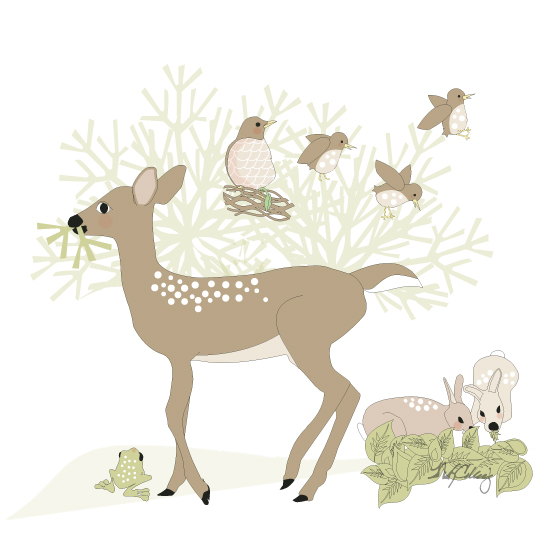 art prints - Friends With Dots by MK Colling
