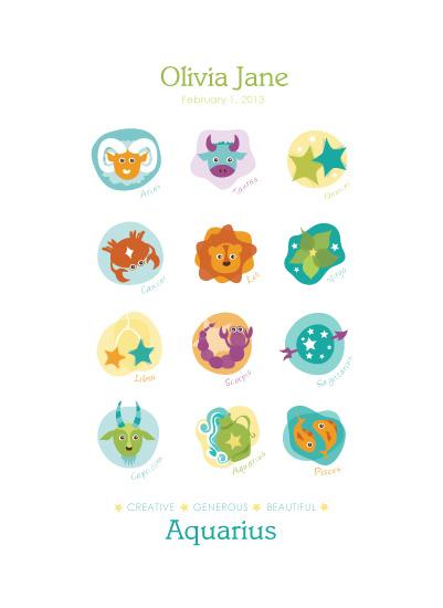 art prints - Signs of the Zodiac by Lisa Seng