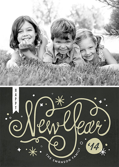 new year's cards - midnight by lena barakat