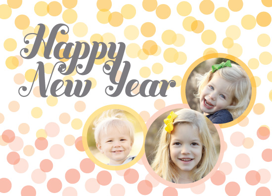 new year's cards - New Year's Confetti Wish by Katrina Lindhorst