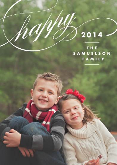 new year's cards - The Happiest New Year by Kimberly FitzSimons