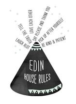 Tepee House Rules by Asato Design