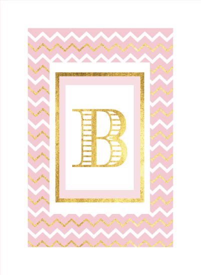 art prints - Gold Leaf Chevron by Patina Creative