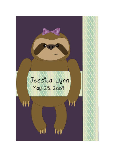 art prints - Sloth Baby Girl by Dana Jennings