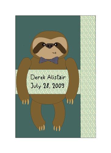 art prints - Sloth Baby Boy by Dana Jennings
