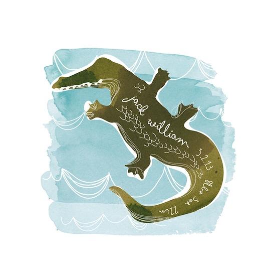 art prints - Alligator by Kelly Ventura