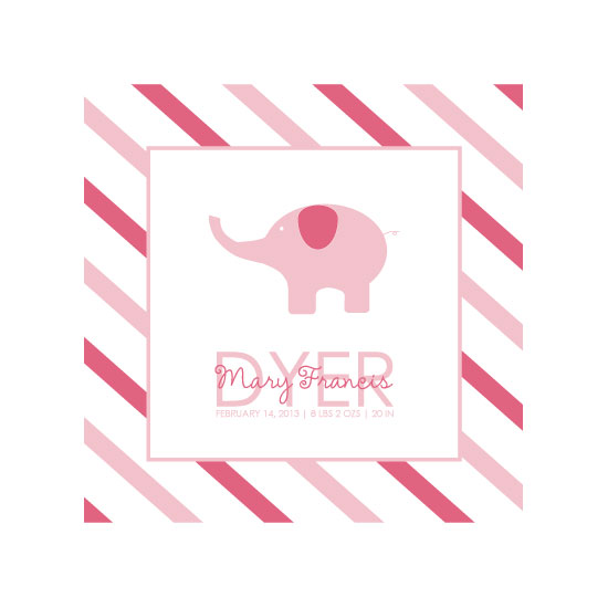 art prints - Pink Elephant by Brittany Dyer