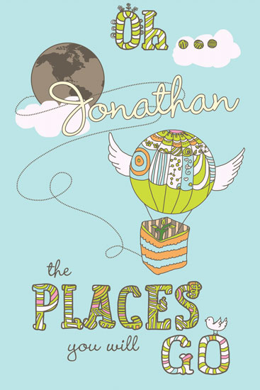 art prints - Oh The Places You Will Go by Lilly Chern