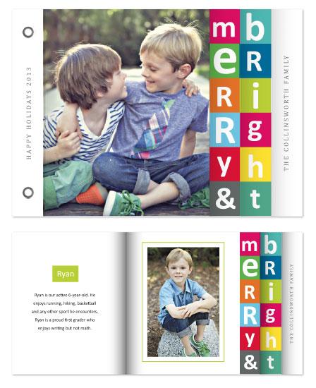 minibook cards - Bright Blocks by Jenn Johnson
