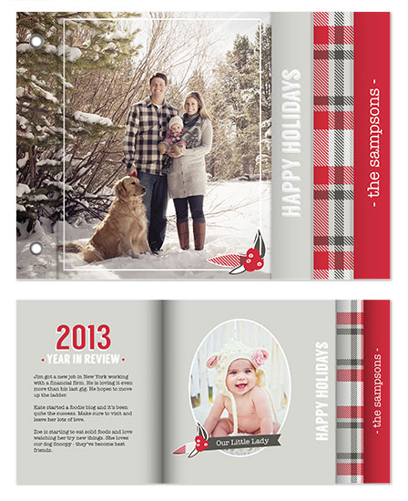 minibook cards - Plaid Holiday by Vanessa Wyler