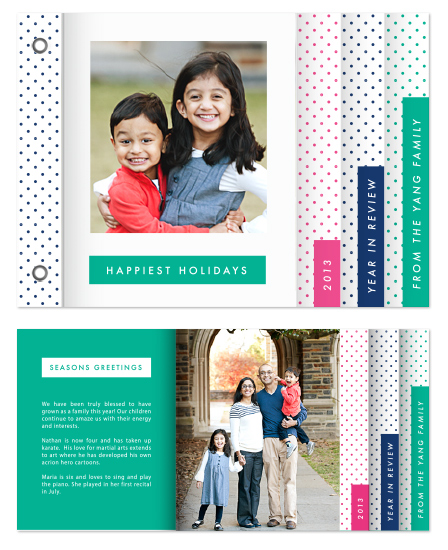 minibook cards - Bold Dots by Kimberly FitzSimons