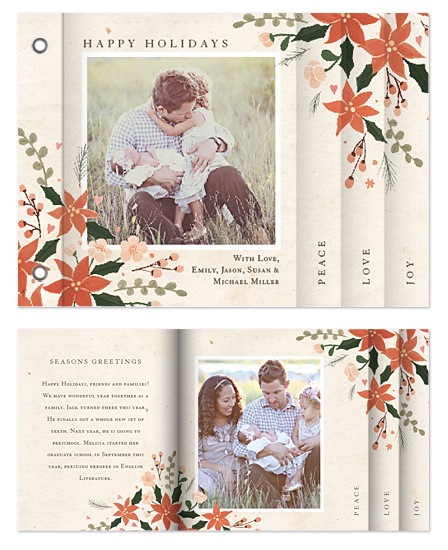 minibook cards - Poinsettia Holidays by Four Wet Feet Studio