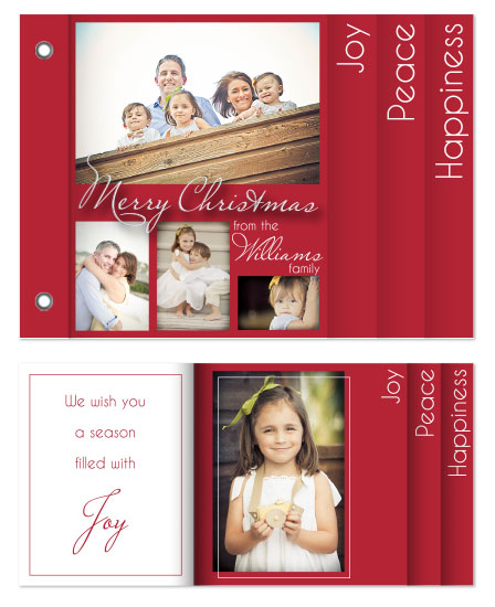 minibook cards - Family Christmas Joy by Jennifer Wiley