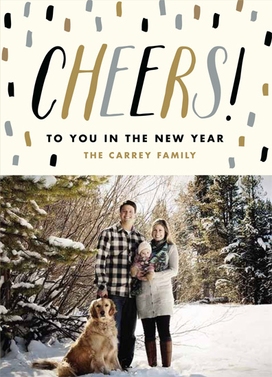 new year's cards - Confetti Cheers by The Social Type