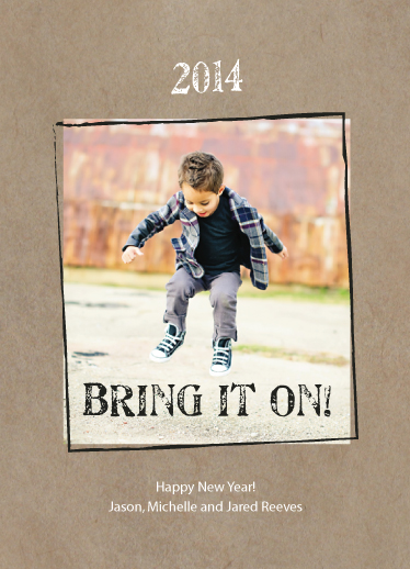new year's cards - Bring it On by Melissa Boyce