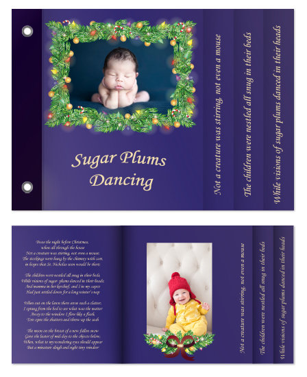 minibook cards - Sugar Plums Dancing by This Place Needs More Pastel Flowers