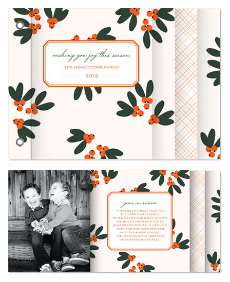 minibook cards - Mistletoe + Holly by Emily Ranneby