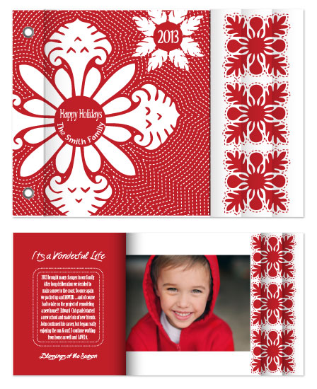minibook cards - Quilted Holiday Minibook by Leslie Phillips-Greco