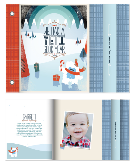 minibook cards - Yeti Good Year by Gretchen Cobaugh