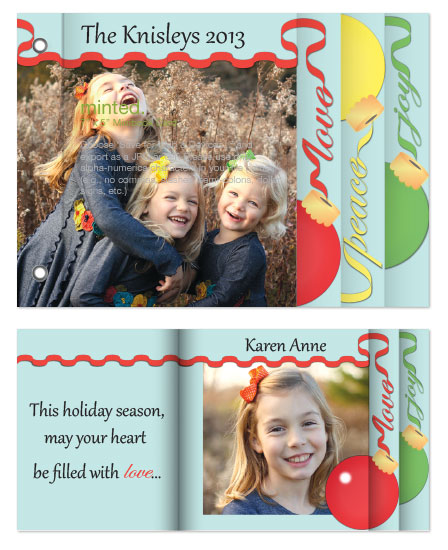 minibook cards - Holiday Ornaments by Ellipsis