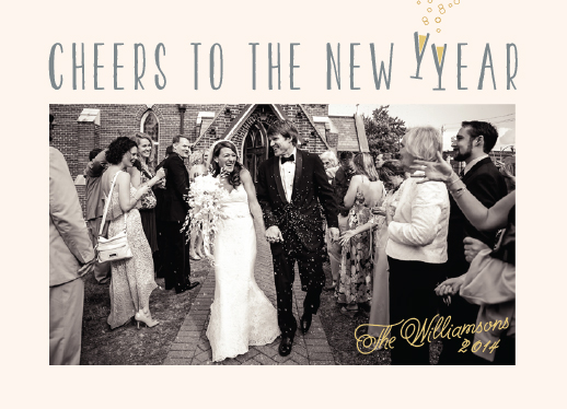 new year's cards - Cheers! by Anne Holmquist