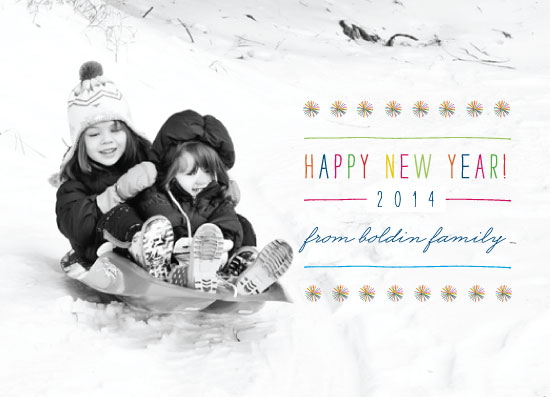new year's cards - new year poms poms by rene mijares