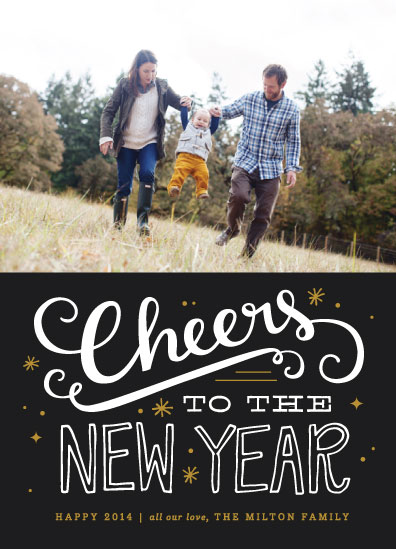 new year's cards - Bold Cheers by Kristen Smith