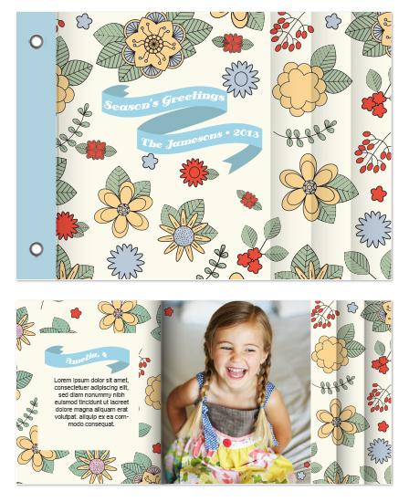 minibook cards - Folk Flowers by Penelope Strange